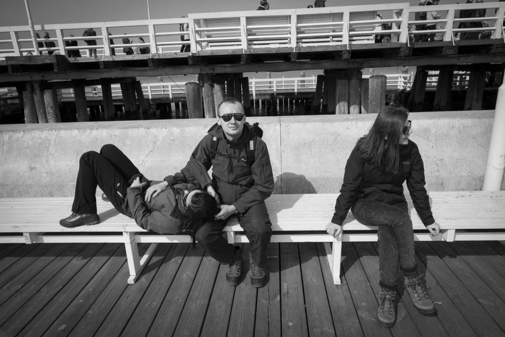 Gabrysia, Marcin i ja, a Oczko nasz fotograf 😉