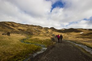 W stronę Reykjadalur. Początek trasy.
