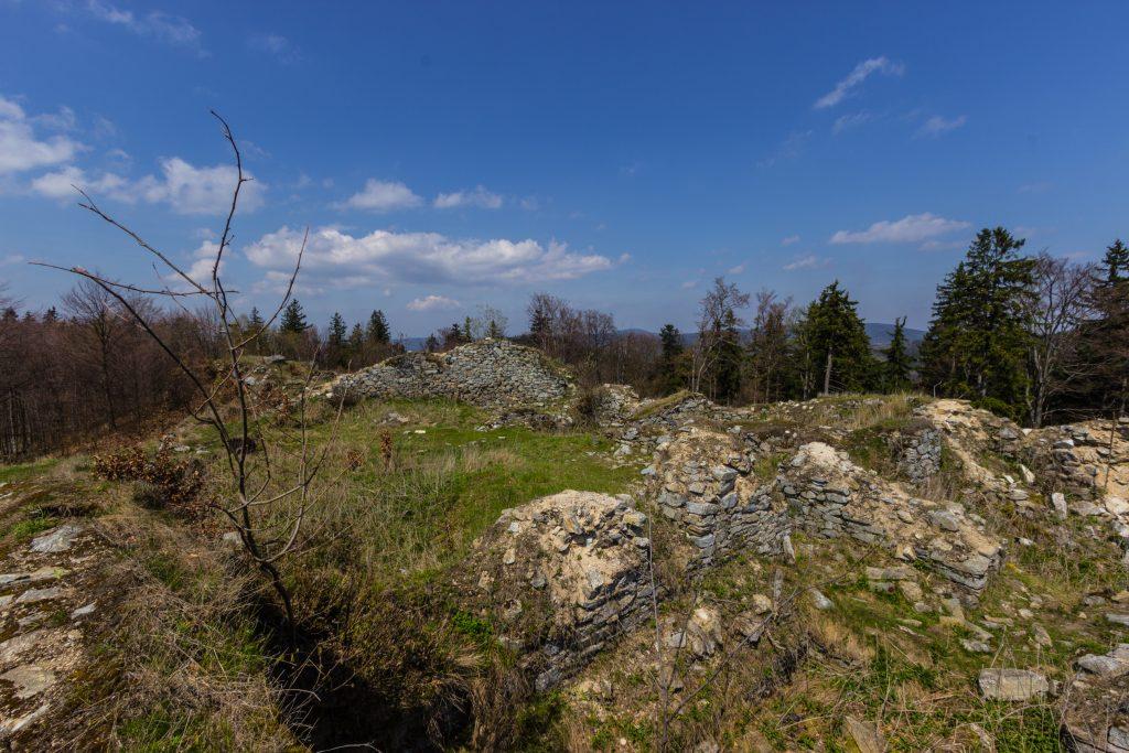 Zamek Karpień, a raczej jego ruiny
