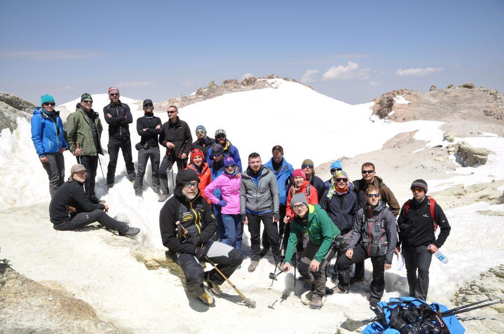 Cała grupa na szczycie, fot. Bogdan Nabielec