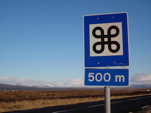Podróż na Islandię - znaki drogowe