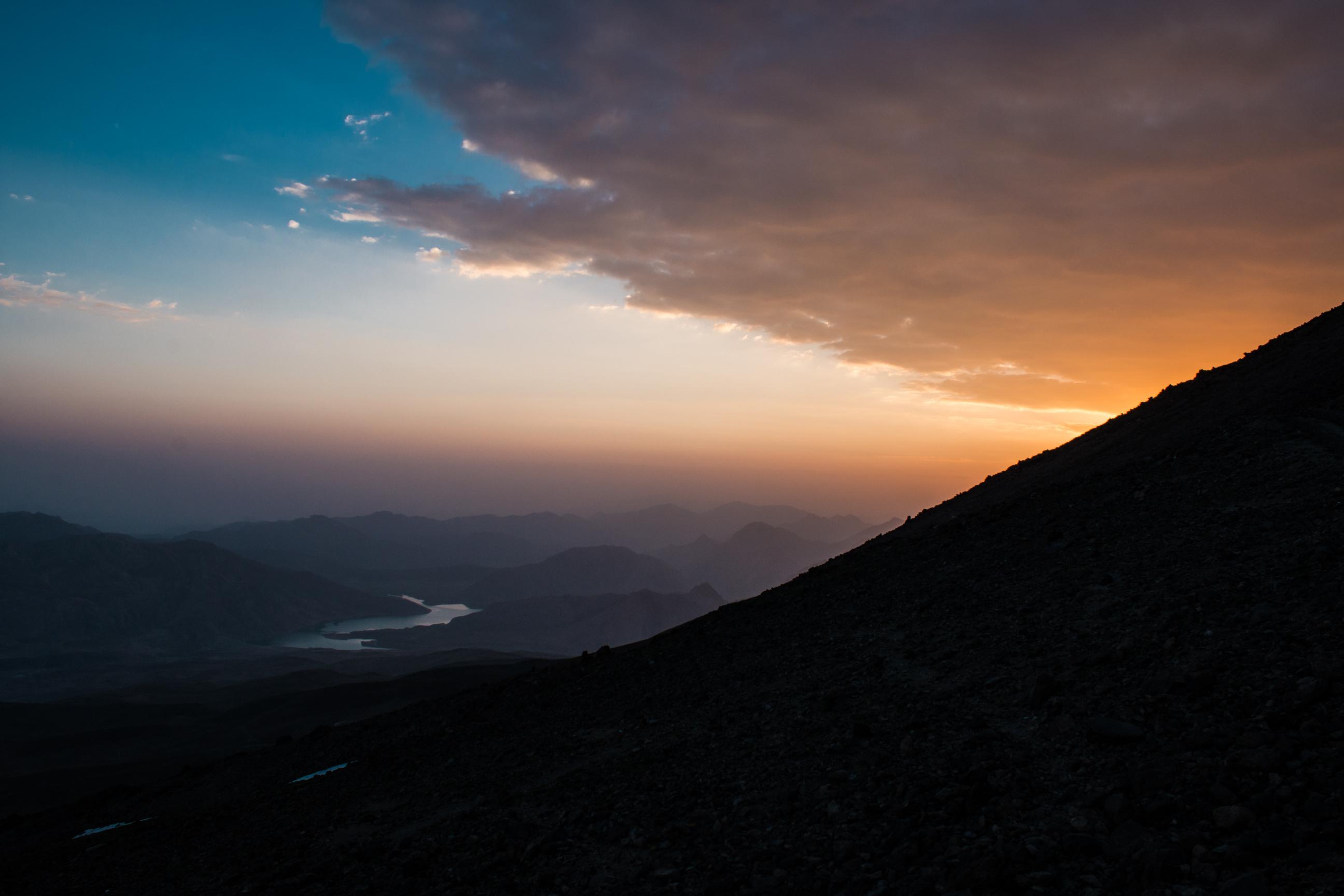 Chyba najładniejszy z zachodów słońca, jakie widzieliśmy w Iranie