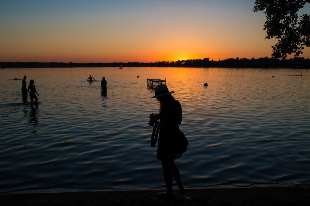Zachód słońca - Jezioro Białe
