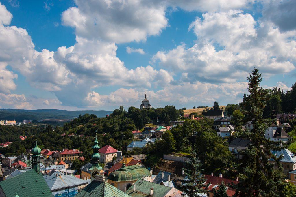 widok z wieży Himmerleich na Nowy Zamek