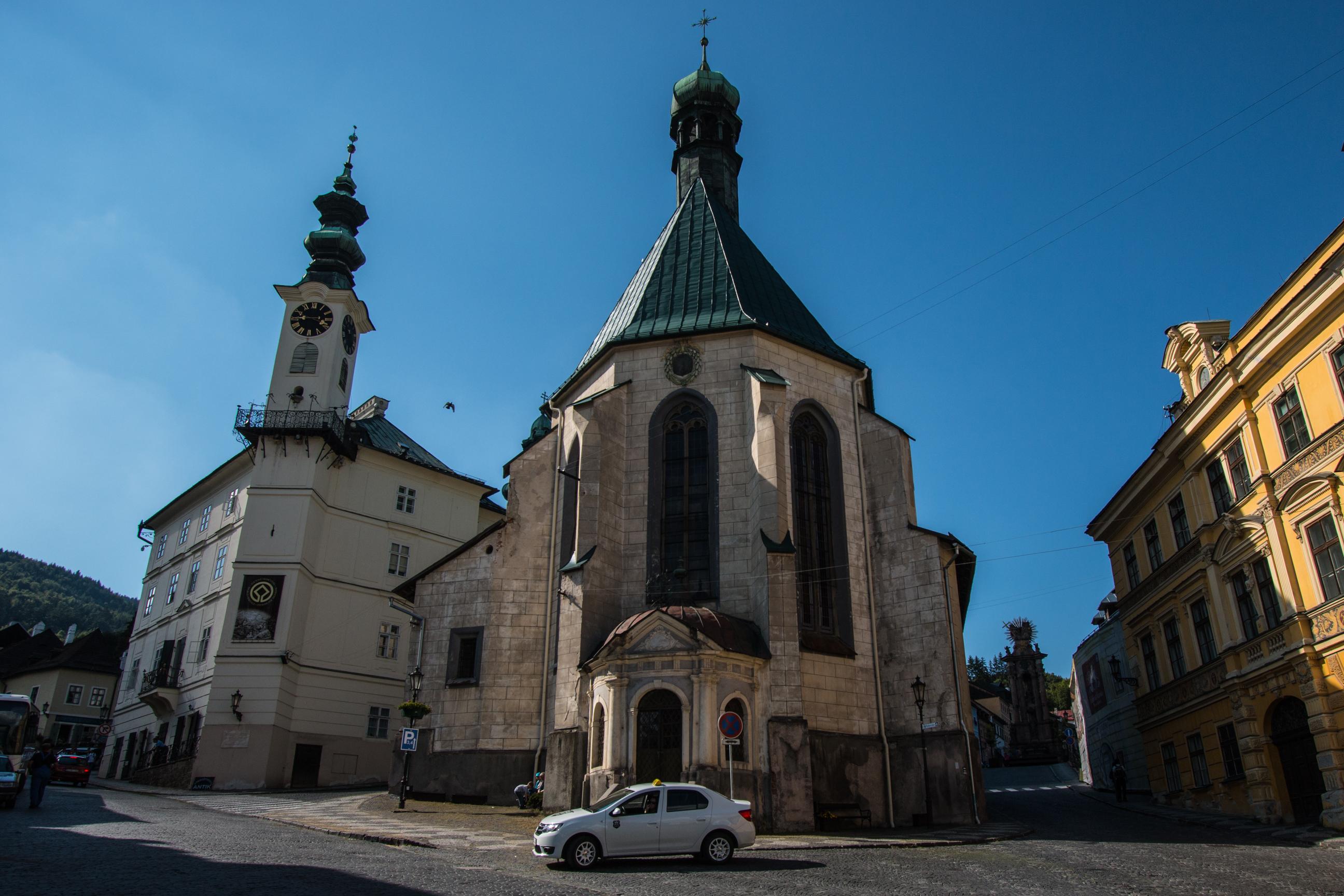 Kościół Św. Katarzyny, Ratusz Miejski oraz Plac Św. Trójcy z pomnikiem Św. Trójcy
