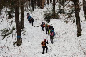 zima w Gorcach