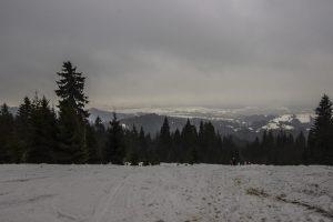Widok na zamglone Tatry