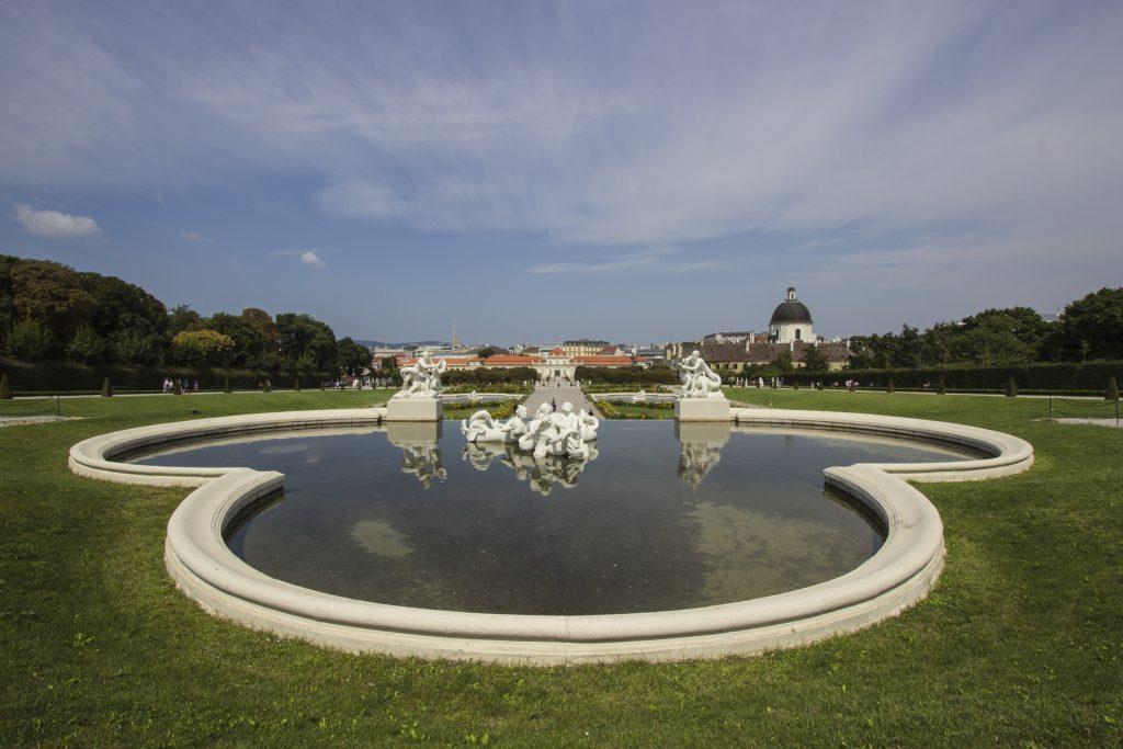 Ogród z widokiem na Dolny Belweder i Wiedeń