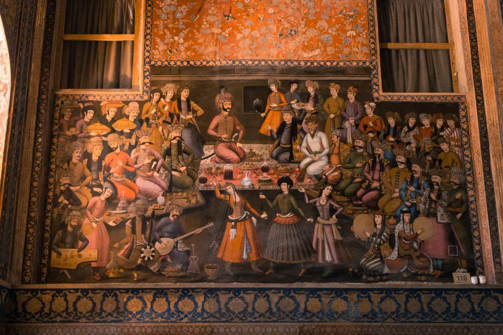 Muzeum wypełnione freskami i obrazami. Znajduje się tu również m.in. Bitwa na równinie Czałdyran (ale był mniej ciekawy, więc prezentuję ten).