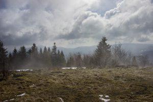 Śnieżny wiatr na Ćwilinie