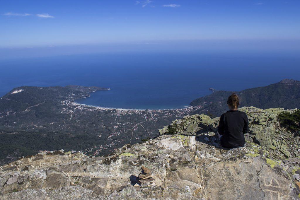 Grecja 2015. Patrząc na Thassos z góry Ipsario...