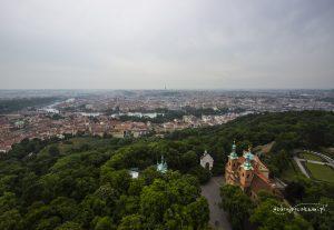 Widok z wieży widokowej, Praga