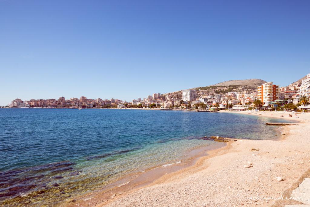 Plaża przy promenadzie, Saranda