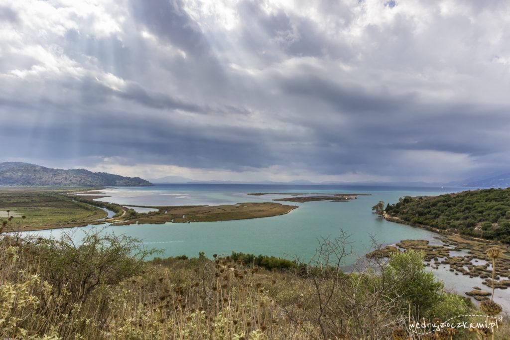 Widok na Jezioro Butrinti, Albania