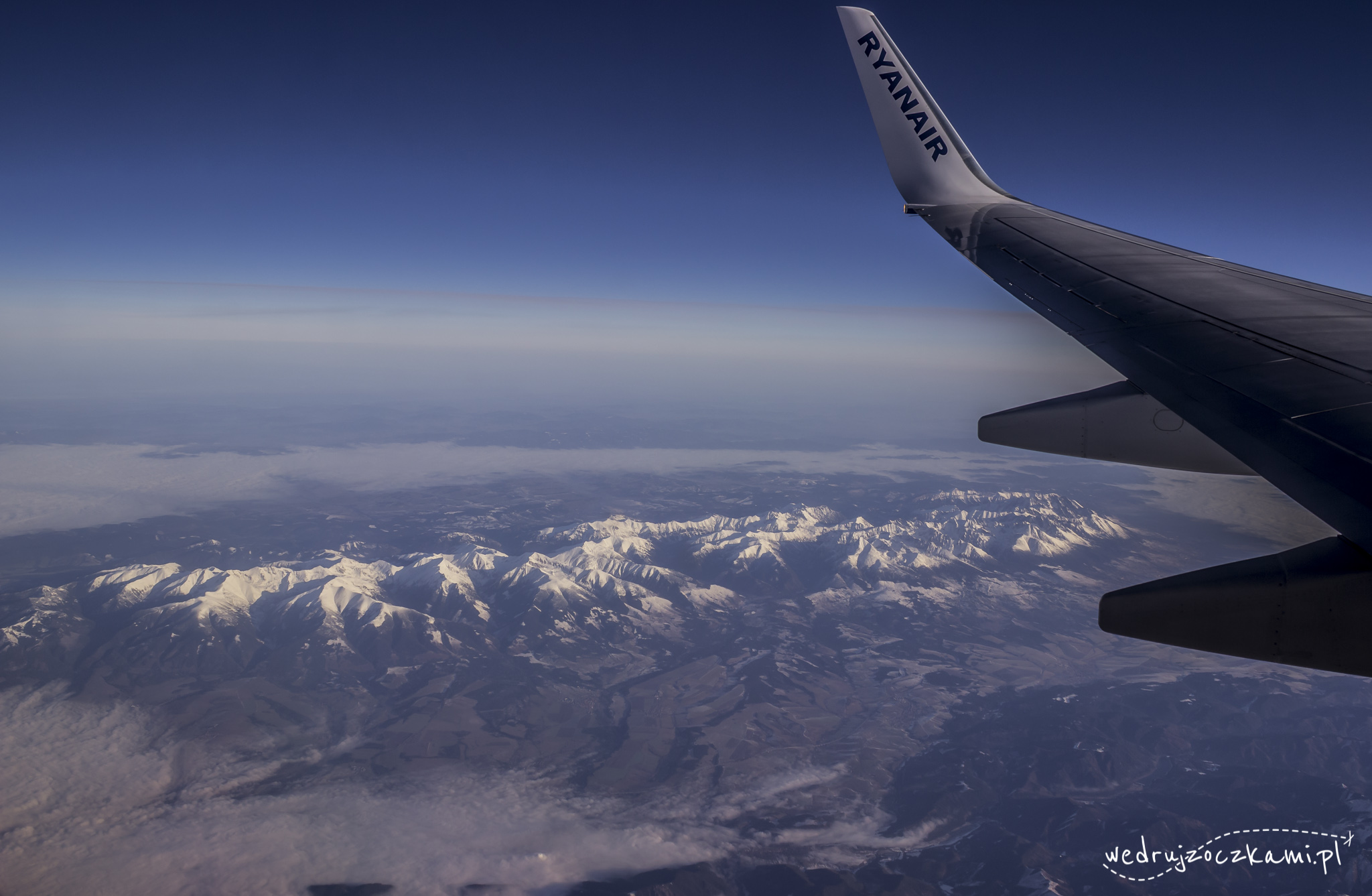 Lot do Izraela. Widok na nasze piękne, polskie Tatry