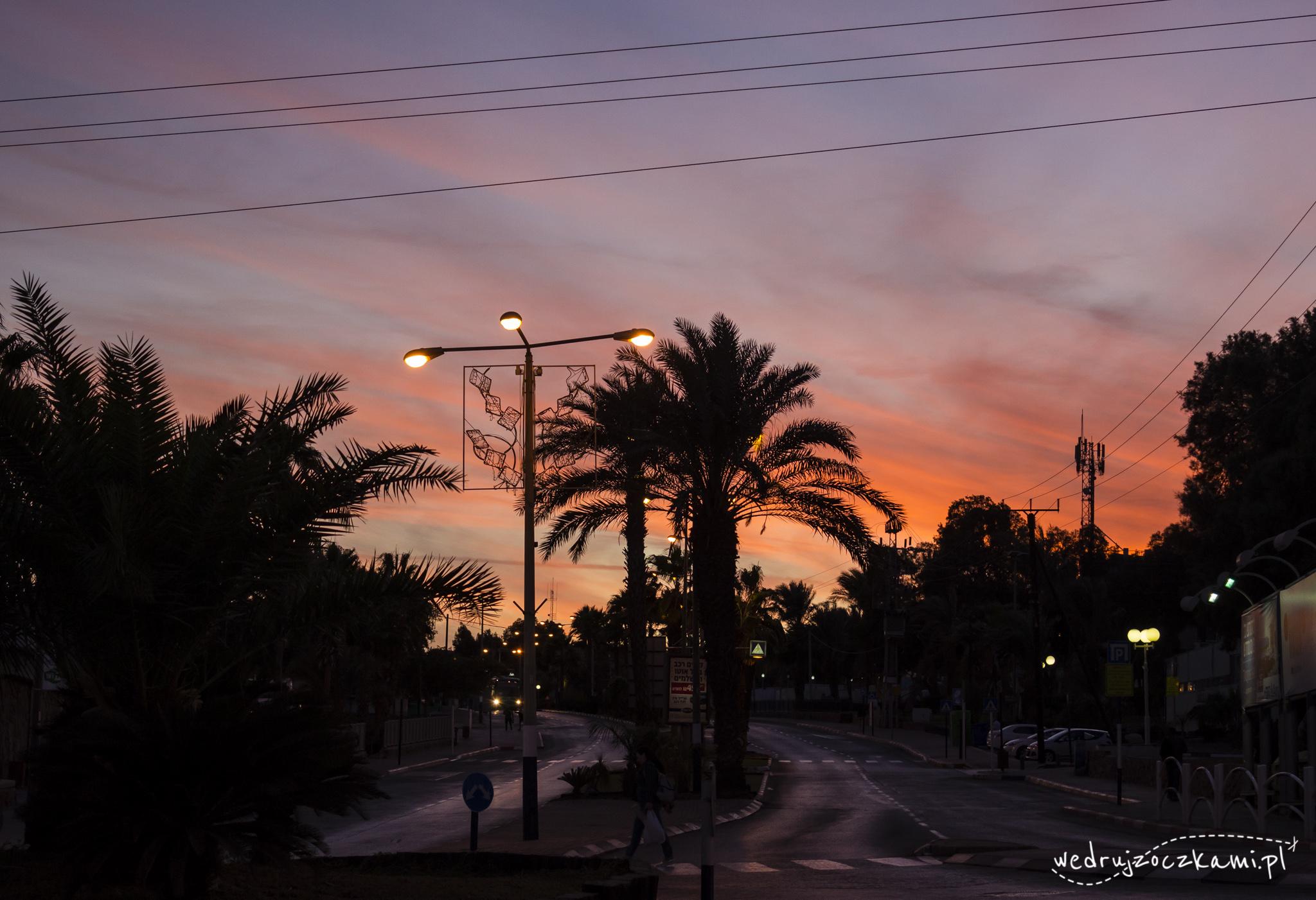Eilat, palmy i zachód słońca ;)