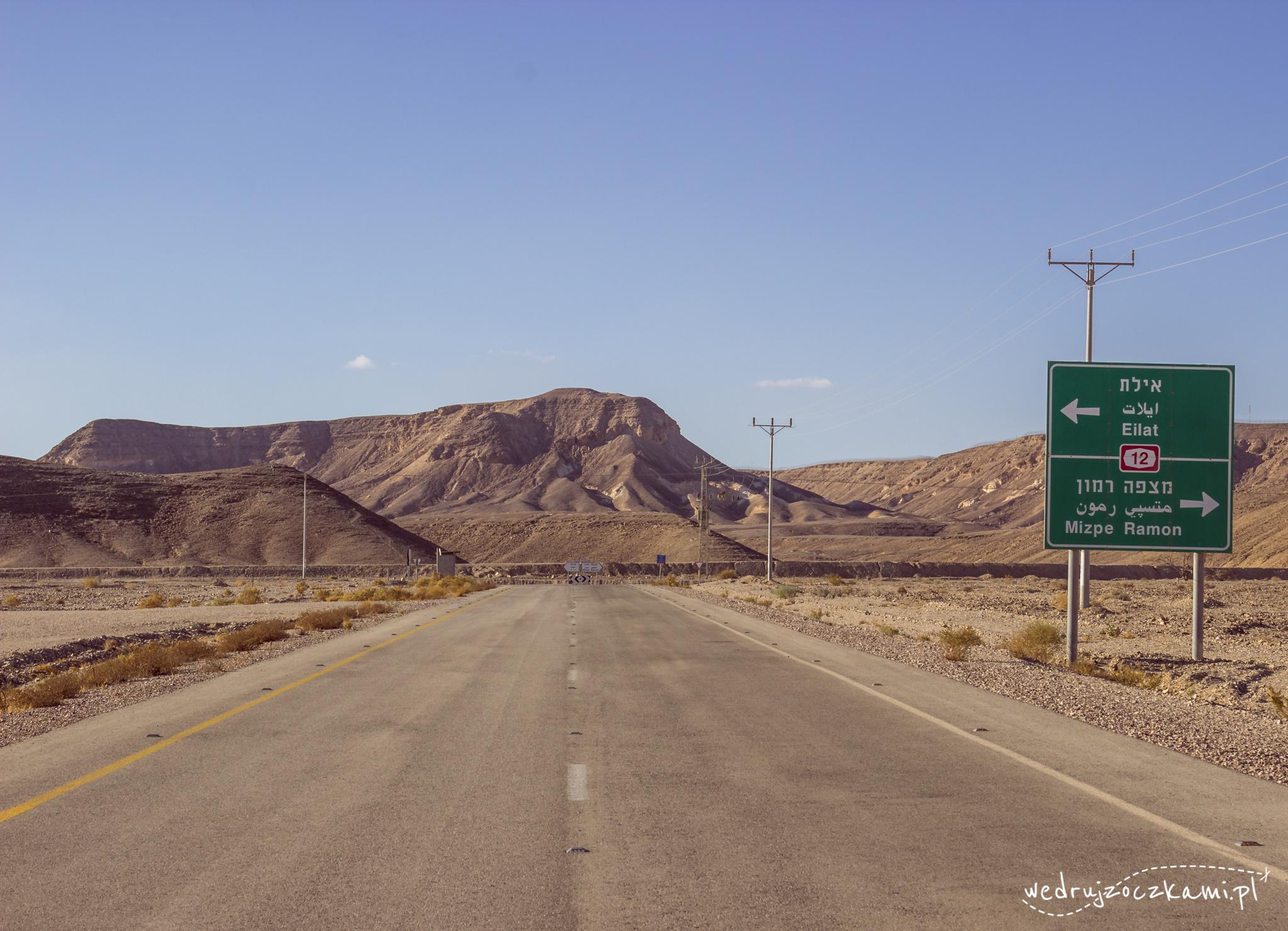 Wyjazd z lotniska Ovda w stronę Eilatu.