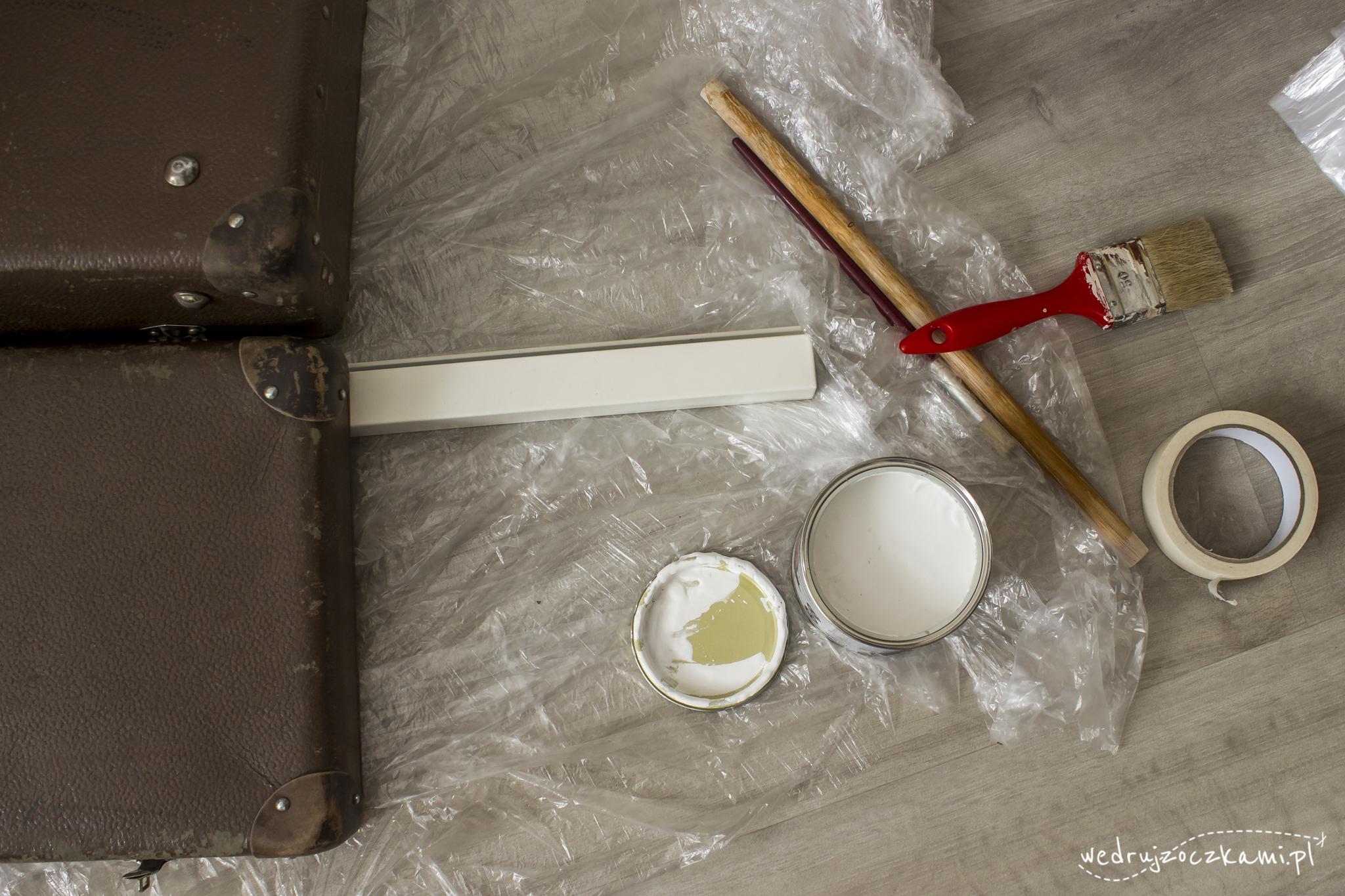 Renowacja starej walizki. Malowanie farbą kredową