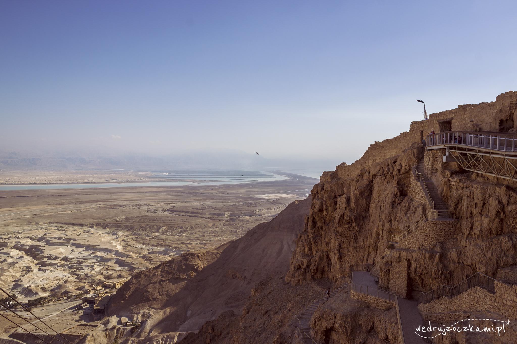 Pierwsze widoki z Masady