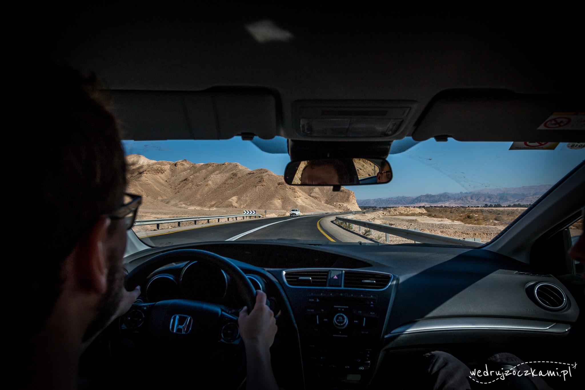 Pustynia w Izraelu, droga z Eilatu do Masady
