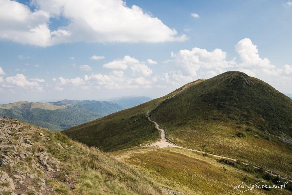 Przełęcz między Tarnicą, a Szerokim Wierchem