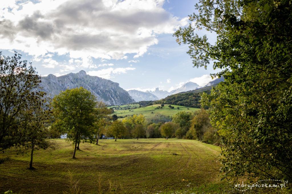 Picos de Europa widziane z oddali