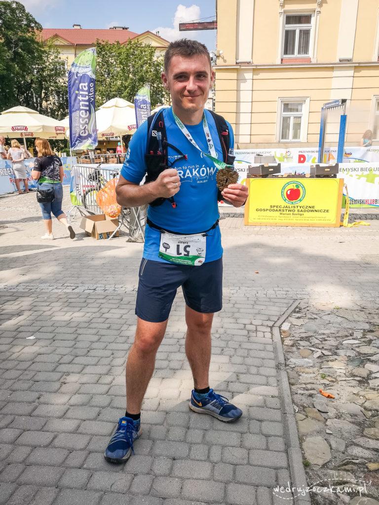 Oczko po ukończeniu ultramaratonu