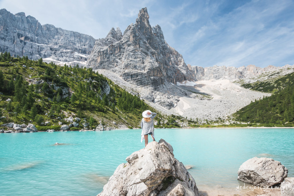 Lago di Sorapis. To chyba jedno z najbardziej fotografowanych miejsc przy jeziorze. ;)