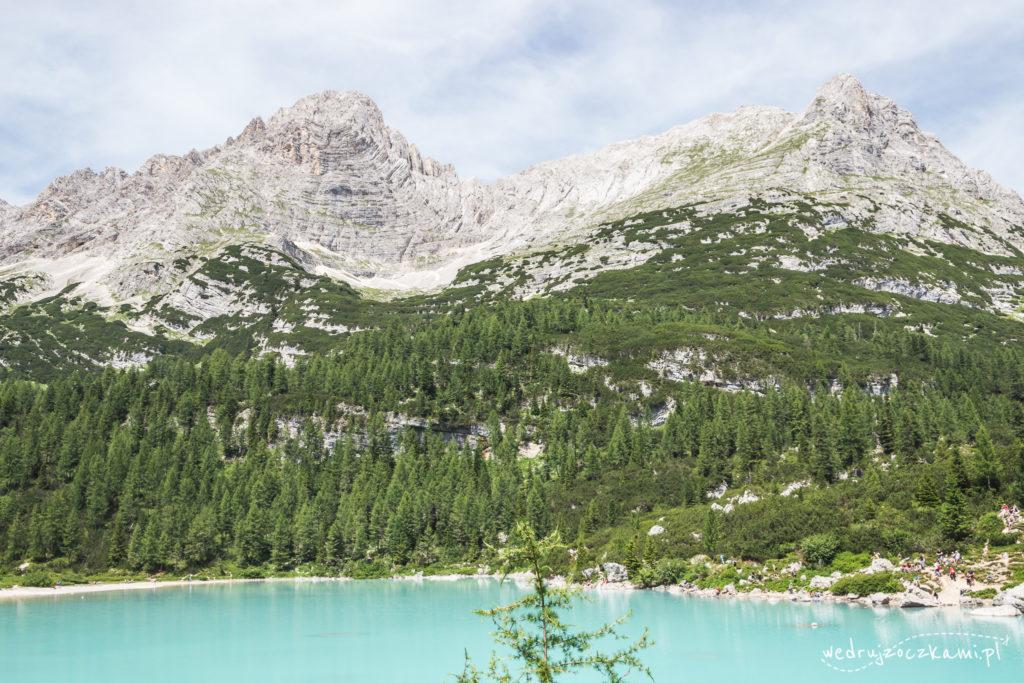 Lago Di Sorapis. Pamiątkowy widok ze skalnej ściany musiał zostać uwieczniony. ;)