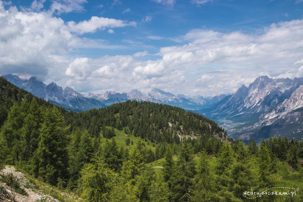 Widok w drodze na Monte Rite